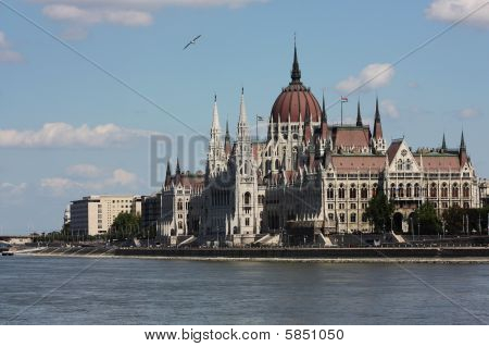Parlament of Hungary and Danube