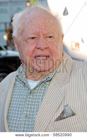 MALIBU, CA - AUGUST 05: Mickey Rooney at
