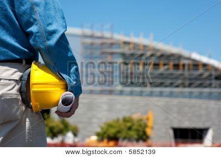 Bauarbeiter oder Foreman auf Baustelle