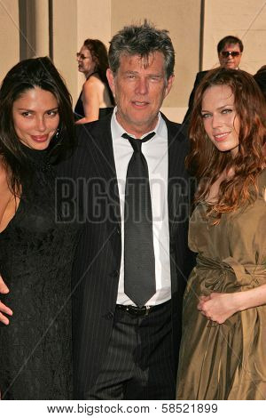 LOS ANGELES - AUGUST 19: David Foster and his daughters at the 58th Annual Creative Arts Emmy Awards on August 19, 2006 at Shrine Auditorium in Los Angeles, CA.