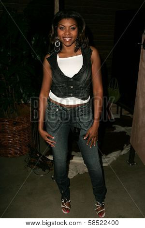 WEST HOLLYWOOD - AUGUST 24: Taraji P. Henson at the Antik Denim Pre-Emmy Gift Experience on August 4, 2006 at Antik Denim in West Hollywood, CA.