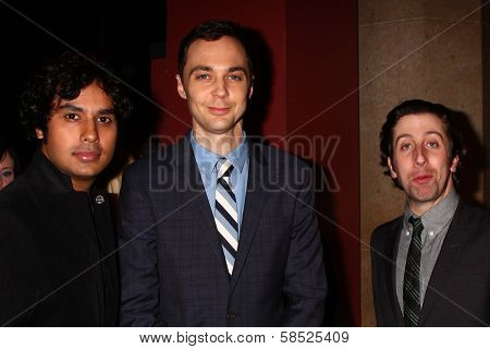 Kunal Nayyar, Jim Parsons, Simon Helberg at the 21st Annual