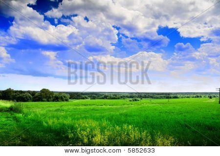 Scenic rural landscape in Russia