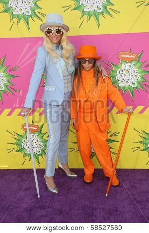 Kesha and her brother Louie Sebert  at Nickelodeon's 26th Annual Kids' Choice Awards, USC Galen Center, Los Angeles, CA 03-23-13