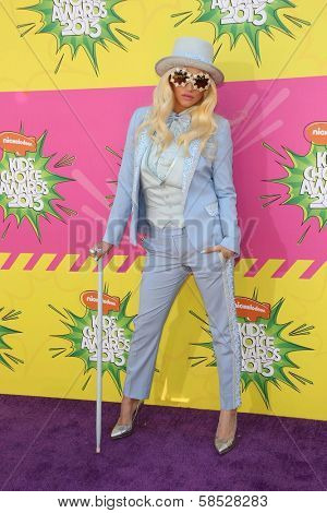 Kesha at Nickelodeon's 26th Annual Kids' Choice Awards, USC Galen Center, Los Angeles, CA 03-23-13