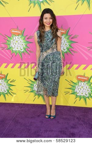 Miranda Cosgrove at Nickelodeon's 26th Annual Kids' Choice Awards, USC Galen Center, Los Angeles, CA 03-23-13