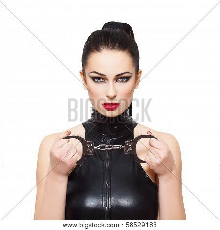 Sexy Dominatrix With Handcuffs