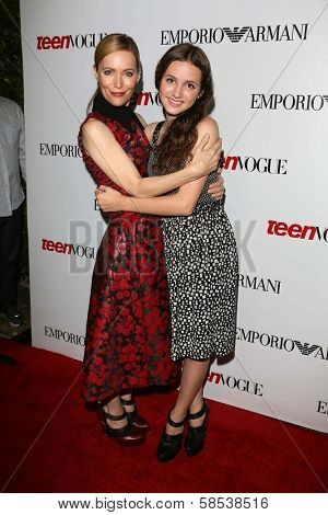 BEVERLY HILLS - SEPTEMBER 27: Leslie Mann and Maude Apatow at Teen Vogue's 10th Anniversary Annual Young Hollywood Party in Private Location on September 27, 2012 in Beverly Hills, CA.