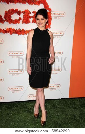 Emilie de Ravin at Coach's 3rd Annual Evening of Cocktails and Shopping benefitting  the Children's Defense Fund, Bad Robot, Santa Monica, CA 04-10-13