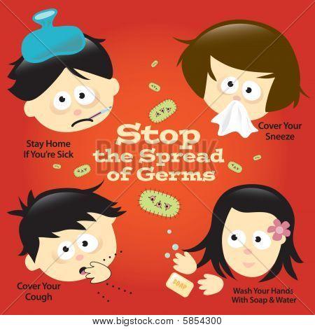 Sinal de cartaz de prevenção gripe