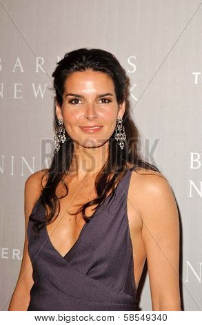 BEVERLY HILLS - APRIL 26: Angie Harmon at the Nina Ricci Fashion Show and Gala Dinner to Benefit The Rape Foundation at Barneys New York on April 26, 2006 in Beverly Hills, CA.