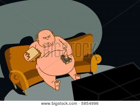 The Fat Man Watches Tv