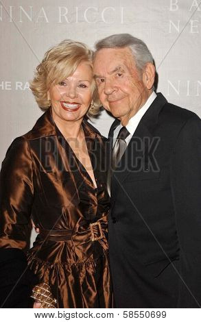 BEVERLY HILLS - APRIL 26: Patricia Carr and Tom Bosley at the Nina Ricci Fashion Show and Gala Dinner to Benefit The Rape Foundation at Barneys New York on April 26, 2006 in Beverly Hills, CA.