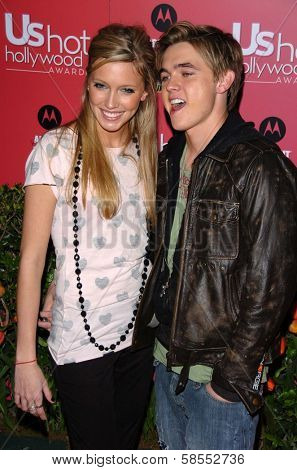 HOLLYWOOD - APRIL 26: Katie Cassidy and Jesse McCartney at the US Weekly Hot Hollywood Awards at Republic Restaurant and Lounge on April 26, 2006 in West Hollywood, CA.