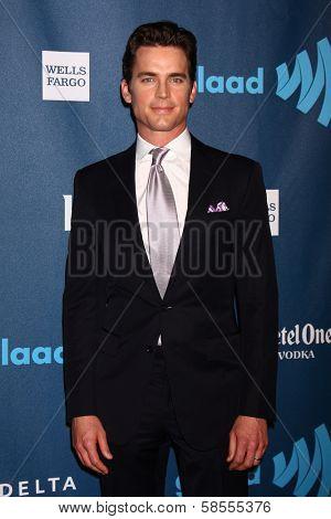 Matt Bomer at the 24th Annual GLAAD Media Awards, JW Marriott, Los Angeles, CA 04-20-13
