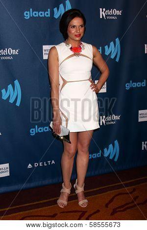 Lana Parrilla at the 24th Annual GLAAD Media Awards, JW Marriott, Los Angeles, CA 04-20-13
