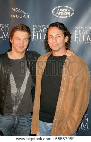 NEWPORT BEACH - APRIL 20: Jeremy Renner and Van Dirk Fisher at the 7th Annual Newport Beach Film Festival Opening Screening of