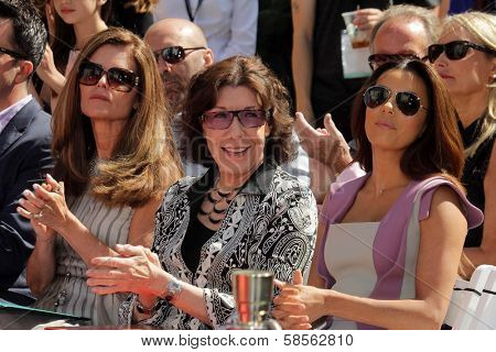 Maria Shriver, Lily Tomlin, Eva Longoria at the Jane Fonda Hand And Foot Print Ceremony as part of the 2013 TCM Classic Film Festival, TCL Chinese Theater, Hollywood, CA 04-27-13