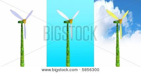 Three Ecological Windmills