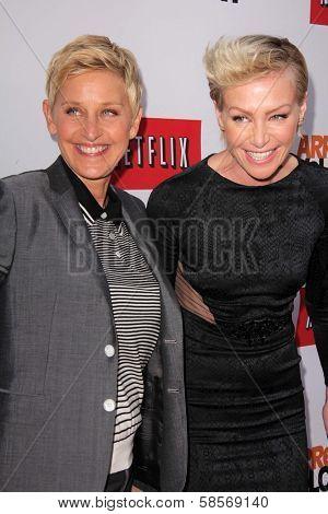 Ellen Degeneres, Portia de Rossi at the