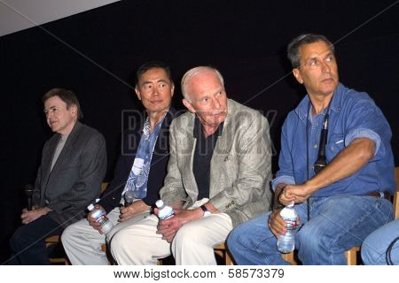 Walter Koenig, George Takei, A.C. Lyles and Nicholas Meyer at a screening of