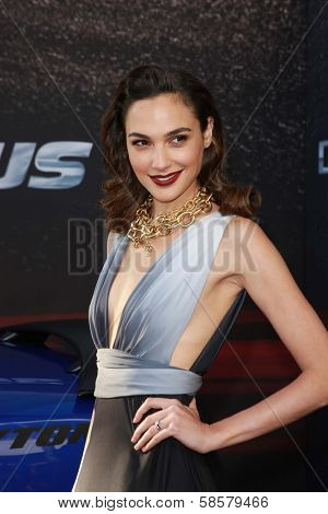 """Gal Gadot at the """"Fast And Furious 6"""" Los Angeles Premiere, Gibson Amphitheatre, Universal City, CA  05-21-13"""
