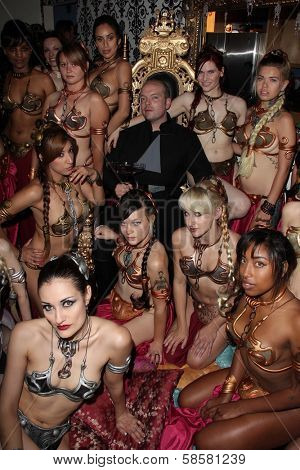 Jamin Fite and his Slave Girls at the celebration of the 30th Anniversary of