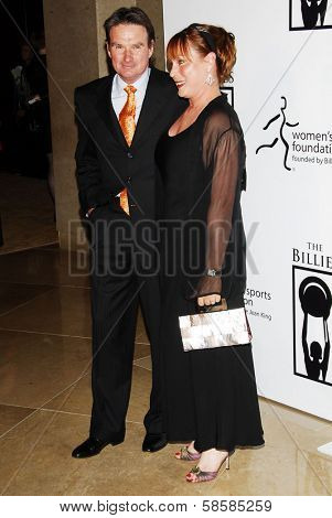 BEVERLY HILLS - APRIL 20: Jimmy Connors and Patti Connors at the inaugural The Billies presented by The Women's Sports Foundation at Beverly Hilton Hotel on April 20, 2006 in Beverly Hills, CA.