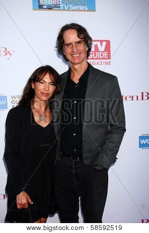 Susanna Hoffs and Jay Roach at the WGA's 101 Best Written Series Announcement, Writers Guild of America Theater, Beverly Hills, CA 06-02-13