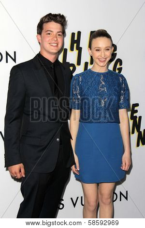 Israel Broussard and Taissa Farmiga at