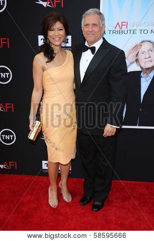 Julie Chen and Les Moonves at the AFI Life Achievement Award