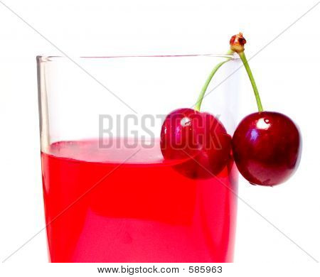 Glass With Cherries