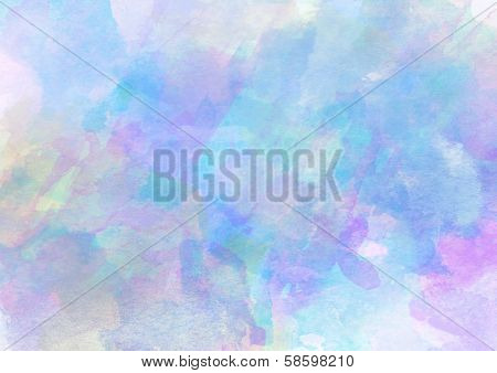 Lovely Cold Watercolor Background.