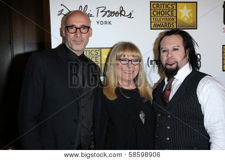 Neville Page, Ve Neill and Glenn Hetrick at the 3rd Annual Critics' Choice Television Awards, Beverly Hilton Hotel, Beverly Hills, CA 06-10-13
