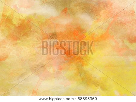 Sweet Warm Yellow Watercolor Background.