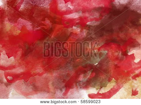 Dark Red Watercolor Background.