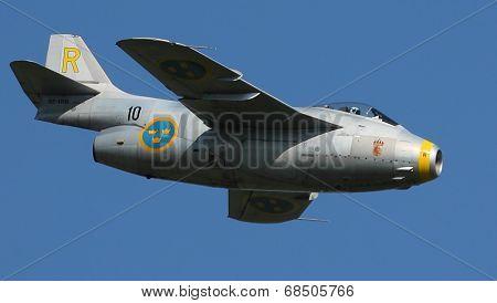 Swedish Saab 29 Tunnan Fighter