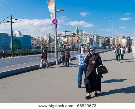 Muslim Woman In Istanbul