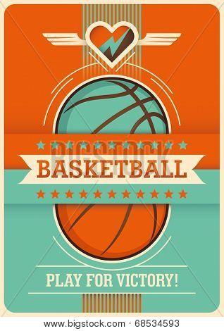 Conceptual basketball poster design. Vector illustration.