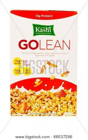 HAYWARD, CA - July 17, 2014: 13.1 oz of Kashi GOLEAN cereal
