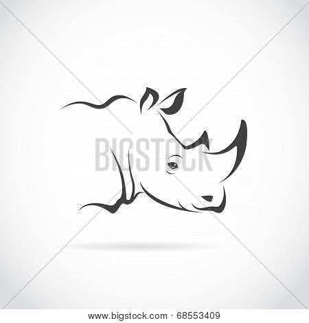Vector Image Of Rhino Head