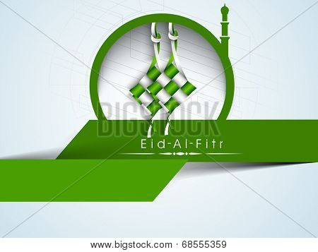 Stylish sticky for Muslim community festival Eid-Al_Fitr celebrations.