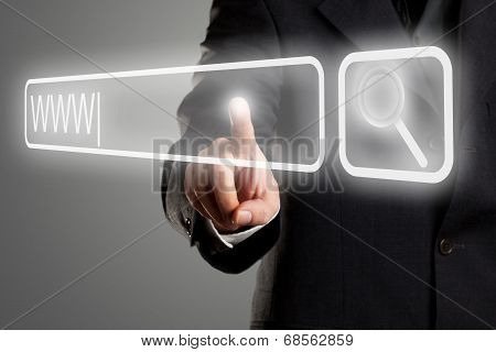 Searching The Internet Concept