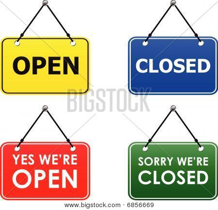 open and closed signs (vector)