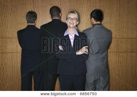 Businesswoman With Businessmen