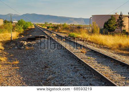 Railroad tracks Alpine, TX
