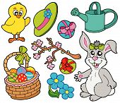 Spring collection 3 on white background - vector illustration. poster
