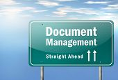 Highway Signpost Image Graphic with Document Management wording poster