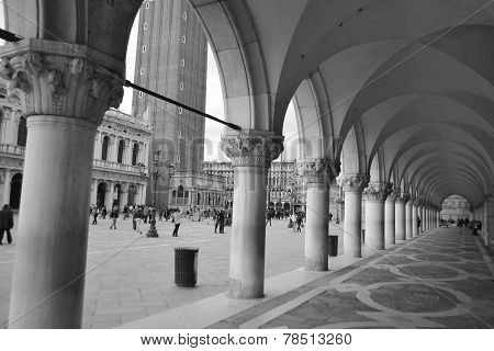 Colonnade Of Palazzo Ducale