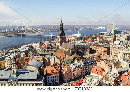 The Panorama View Of Riga, Latvia